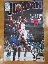 1995 Starline MICHAEL JORDAN CHICAGO BULLS vs HORACE GRANT ORLANDO MAGIC Poster