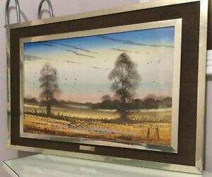Vintage Landscape Oil Painting Signed Christopher Berry Dee ~ English Elms
