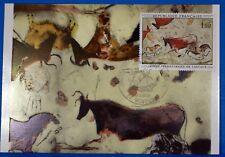 FRESQUES DE LA GROTTE DE LASCAUX   FRANCE CPA Carte Postale Maximum Yt 1555 GF
