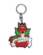 Welsh Wales Red Dragon Rubber Keyring Souvenir Gift Key Chain