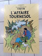 Grand poster Tintin Hazan L'Affaire Tournesol  ETAT NEUF