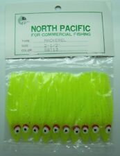 "2-1/8"" Octopus Squid Skirt North Pacific Trolling Lure Vinyl 10 Pack"