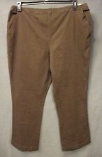 ESSENTIALS JEGGINGS pull on PANTS plus size 26W 28W BROWN bootcut NWT #2895