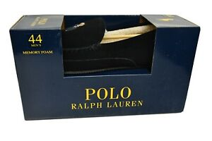 Ralph Lauren Polo Bear 'Martini' Markel III Black Slippers Size UK10 *BNWT* NEW
