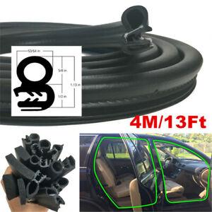 4M Car Door Hollow Sealing Strip Anti Wind Noise Weatherstrip Rubber Moulding
