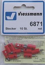 Viessmann 6871 Bouchon de Trou Croix Rouge,10 Pièce # Neuf Emballage D'Origine #