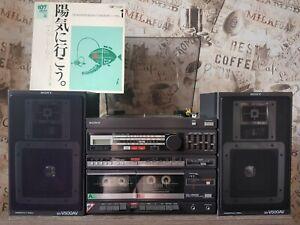 NEW 1985 year collection Sony hi-fi stereo system XO-V500W speaker SS-V500AV