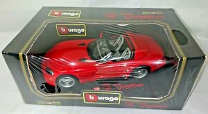 VINTAGE BBURAGO DIAMONDS RED 1992 DODGE VIPER RT/10 DIECAST METAL 1/18 SCALE