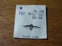 "Teil Uhrenhandel Armbanduhr Ein -achse Pendel Fef 10 ½"" 350 380 389"