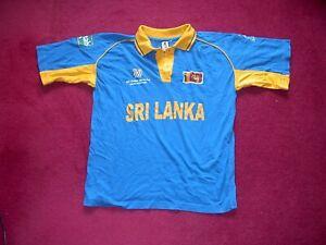 AJ Sport Sri Lanka 1 day International Cricket Shirt/top/World Cup 2003/medium