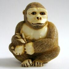 MPS Harmony Kingdom: QTs: Small Gorilla / Primate Figurine - Inspired by Netsuke