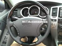 Toyota FJ120 Land cruiser FJ100 PIANO black leather steering wheel-STANDARD