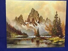 """LITHO IN U.S.A. PRINT D.A.C. N.Y. P-217 """"TIMBERLINE LAKE"""" BY WILMER 8"""" x 10"""""""