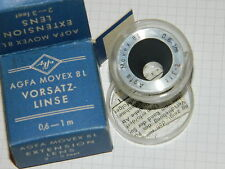 AGFA MOVEX 8L vorsatz LINSE extension lens 2-3 ft LENTILLE d'approche CAMERA