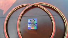 27x1 1/4 Bicycle RedWall Tires & Tubes with liners for Road Bikes & other