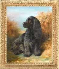 Cocker Spaniel Dollhouse Picture - Framed Miniature Dog Art - Made In America