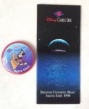 Disney Cruise Line Maiden Voyage Button and Brochure