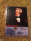 President Andrew Jackson 1829 United States Upper Deck USA history Trading Card
