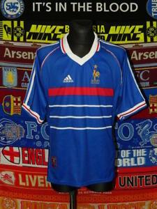4.5/5 France adults XL 1998 Blanc home original football shirt jersey trikot