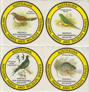 ENDANGERED SPECIES FLORA & FAUNA STICKERS ISSUED BY ANPWS (JD6335)