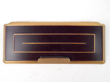 """Vintage Brown & Gold Television Tv door panel cover hinged 5-1/4"""""""