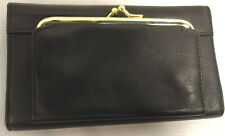 Checkbook Wallet Leather Check Book Cover Credit Card Snap Change Purse  Sanp