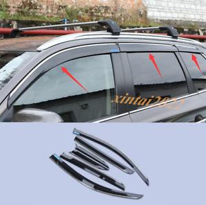 Carbon Fiber Window Visor Sun Shade Rain Guard For Mitsubishi Outlander 13-20