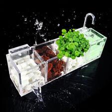 Acrylic Filter Box Aquarium Fish Tank 2-6 Grid Transparent Sink Durable