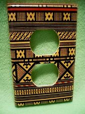 Vintage colorful Black Yellow & Red designs wrapped paper outlet cover.