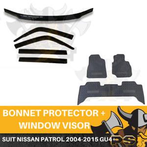 Nissan Patrol WAGON 2004-2015 GU4+ Y61 Bonnet Protector & Window Visors & Floor