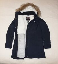 Womens Hollister by Abercrombie & Fitch All-Weather Quilted Fur Jacket Size XL