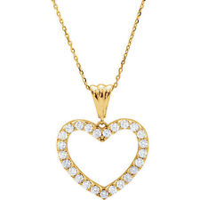 "Diamond Heart 18"" Necklace In 14K Yellow Gold (1/2 ct. tw.)"