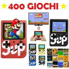 CONSOLE PORTATILE VIDEOGIOCO 8 BIT 400 GIOCHI SCHERMO COLORI RETRO' SUP GAME BOX