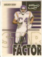 RANDY MOSS SERIAL #4/2500 2000 QUANTUM LEAF STAR FACTOR 29 MINNESOTA VIKINGS HOF