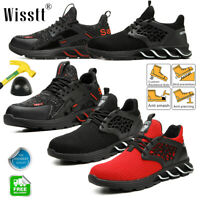 Mens Indestructible Athletic Safety Shoes Steel Toe Work Boots Sports Sneakers