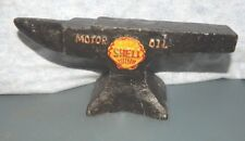 "SHELL MOTOR OIL ANVIL SOLID Cast Iron 7 1/2"" L"