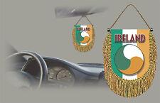 IRELAND REAR VIEW MIRROR WORLD FLAG CAR BANNER PENNANT