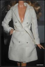 TOP BARBIE DOLL MODEL MUSE CYNTHIA ROWLEY LONG CREAM JACKET COAT ACCESSORY