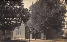 D29/ Port William Ohio Real Photo RPPC Postcard 1914 M.P. Church Building