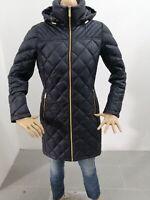 Giubbino MICHAEL KORS Donna Taglia Size S Jacket Woman Piumino Nero e Oro 7622