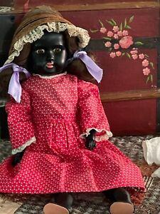 Antique Black Bisque Doll Armand Marseille Circa 1890's ~ TLC Sweetie