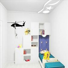 Huhome PVC Wall Stickers Wallpaper Military army helicopter Child Bedroom bedsid