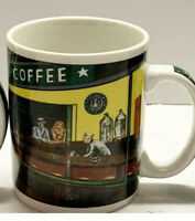 Vintage Starbucks by Chaleur & D Burrows Nighthawks Diner Handled Coffee Mug