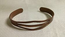 "Vintage Pierced Plain Solid Copper 6.25"" Cuff Bracelet"