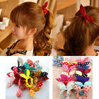 Fashion 10pcs Hair Tie Band Ponytail Holder Elastic Rubber Clear White Women