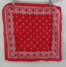 Vintage colorfast bandanna rancher western fast color cotton red