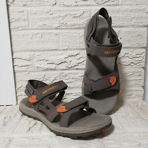 Merrell Boulder / Burnt Orange Hook and Loop Closure Sandals Men's 12