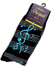 Blue Notes Socks Mens Crew Novelty Casual Fashion Musician Music Black Sock New