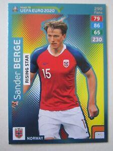Road to Euro 2020 Rising Star Foil card - Sander Berge of Norway