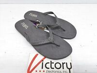 New Women's Flojos Eve Gray Flat Sandals Padded w/ Arch Support Size 6 Ladies